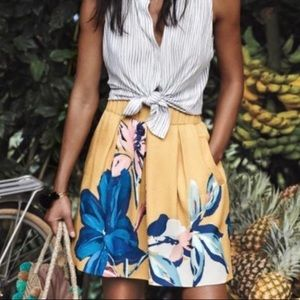 Anthropologie Maeve Tropicale Skirt Size 10